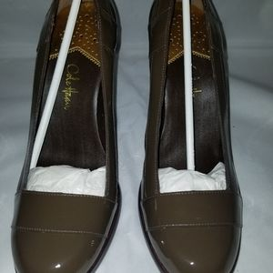 Cole Haan Patent Leather Chunky Heels